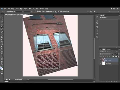 How to use perspective crop in Photoshop tutorial