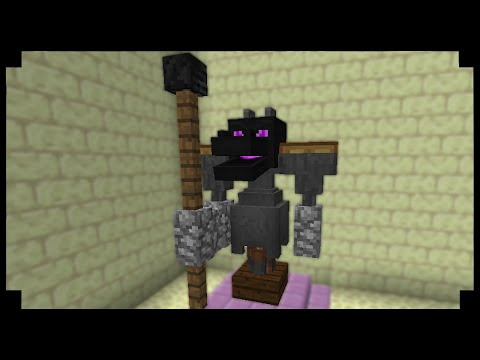 ✪Minecraft: How to make an Enderdragon Knight Statue! (1.9)
