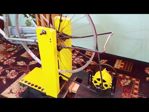 Free energy generator homemade 220v attached to bicycle.DIY free electricity generator