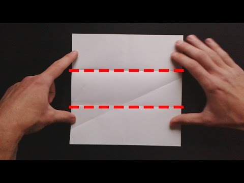How to divide the paper into 3 equal parts