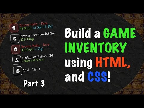 Building a GAME INVENTORY using HTML and CSS - Part 3!