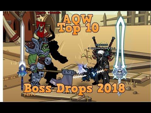 AQW Top 10 Boss Drops 2018 | Free and AC Tagged