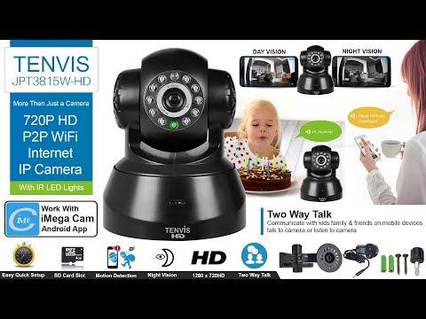 How to Set up TENVIS JPT3815W-HD 720P HD P2P WiFi Internet IP Camera With Mobile & Desktop