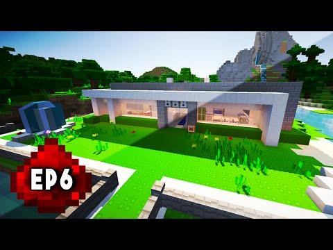 Let's Build: MODERN REDSTONE HOUSE EP 6 - Secret Escape, Redstone Elevator, Bedroom