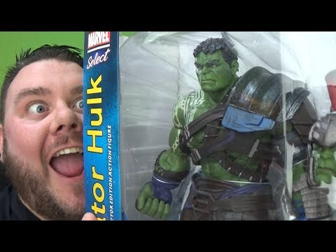 Marvel Select Gladiator Hulk Thor Ragnarok Movie Diamond Select 7 Inch Action Figure Toy Review