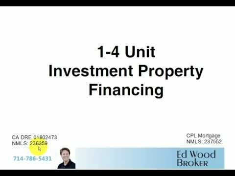 How to buy or purchase SFR, Duplex, Triplex, Four Unit Investment Property Mortgage or Financing