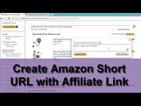 Create Amazon Short URL with Affiliate Link-amzn.to