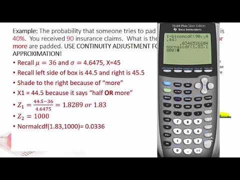 Normal Approximation to Binomial Dist Part 2: when x is less or greater