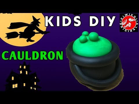 Kids DIY Halloween Project | Halloween Craft | Cauldron Tutorial