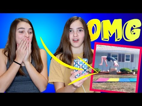 REACTING TO YOUR CHEER AND GYMNASTCS FAILS PART 2