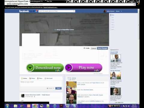 How to convert a .gif image to your facebook cover photo.