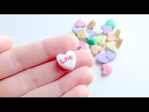 Conversation Candy Hearts Tutorial! (Polymer Clay)