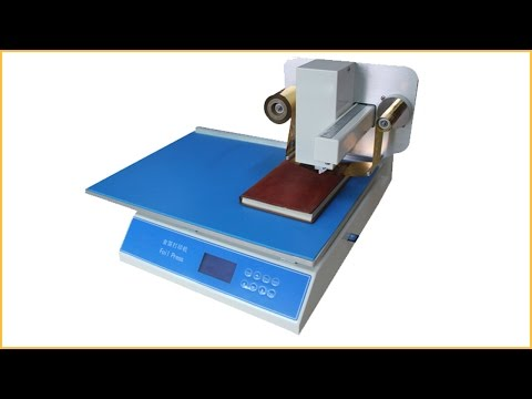 Automatic hot foil stamping machine 8025 hot stamping machine for leather invitations bronzing