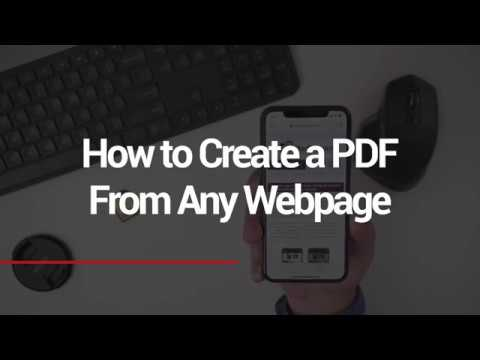 How to Create PDF's From Any Webpage
