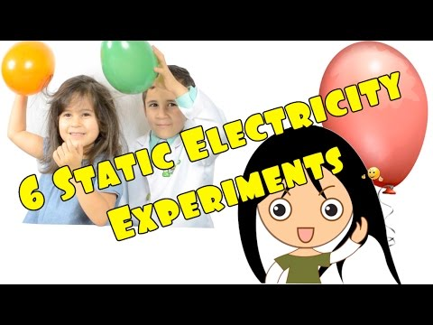 6 Static Electricity Balloon Experiments You can do at home Easy Kid Science - STEM