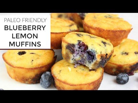 Blueberry Lemon Muffin Recipe   YouTube LIVE   Gluten Free + Paleo
