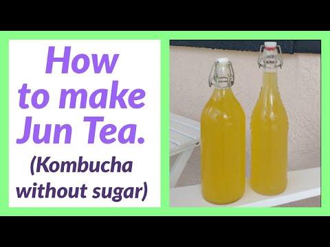 How to Make Jun Tea: Kombucha Champagne