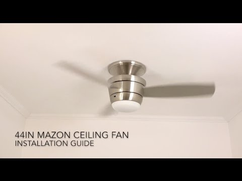 How to Install the Harbor Breeze 44 in. Mazon LED Ceiling Fan