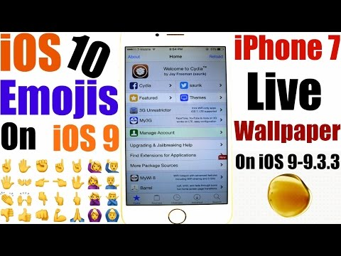 How To install: iPhone 7 Live Wallpapers + iOS 10 NEW Emojis-On iOS 9.3/9.3.2/9.3.3 Pangu Jailbreak