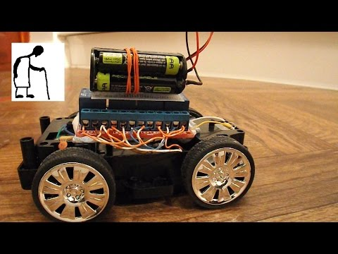 Remote Control Car using 4 channel IR Relay Module