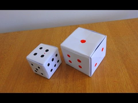 How to make a Paper Dice...(Tutorial / Step by Step Instructions)