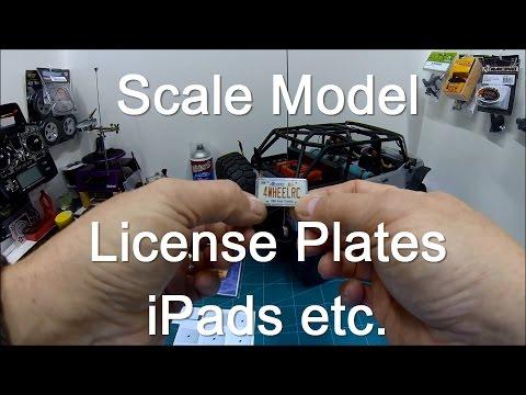 Scale Model License Plates, iPads etc.