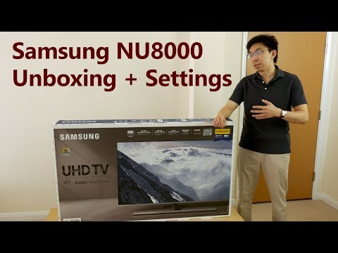 Samsung NU8000 2018 TV Unboxing + Picture Settings