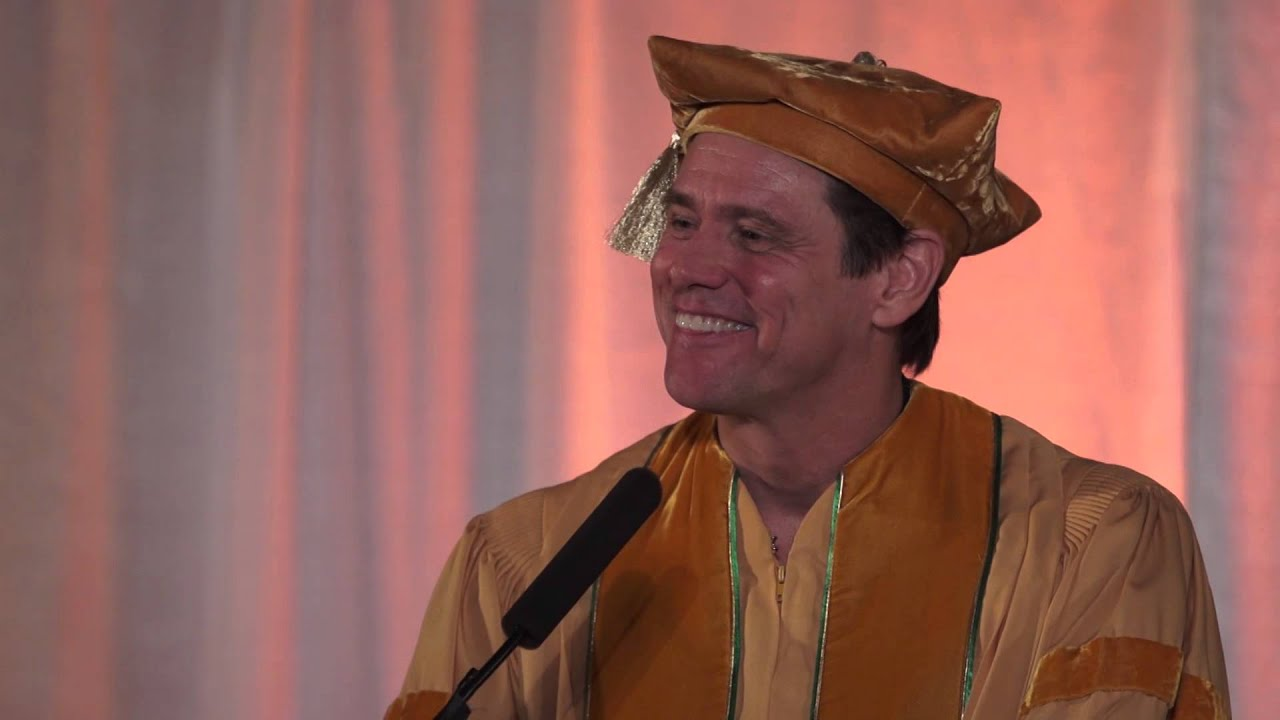 Full Speech: Jim Carrey's Commencement Address at the 2014 MUM Graduation  (EN, FR, ES, RU, GR,...)