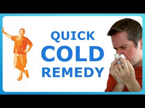 MY COLD CURE: how to get rid of a cold fast!