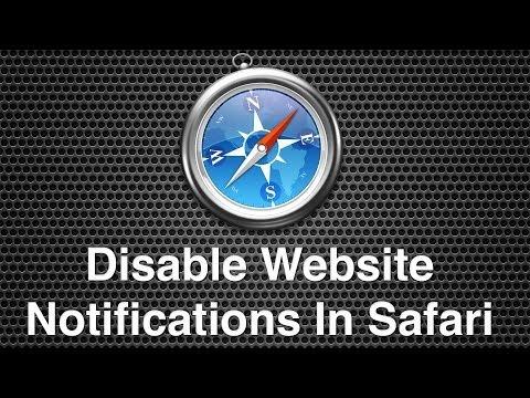 Disable Website Notifications In Safari
