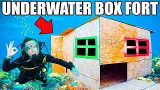 REAL UNDERWATER BOX FORT BASE! 📦💦 Scuba Tanks, Onboard Oxygen & More!