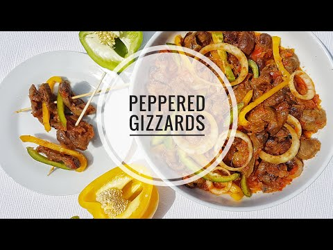 How to make Peppered GIZZARDS | Nigerian Food | Small chops