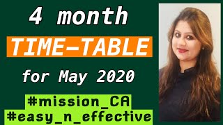 Effective 4 month timetable for May 2020|What,how and when to study?