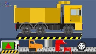 My Craft Truck | Building a Yellow Truck | Toy Factory | Trucks Video For Kids