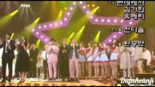 Dujun With Eunji At Music Bank Ending Half Year Moments Part 13