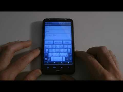 HTC Desire HD - Texting & Emails