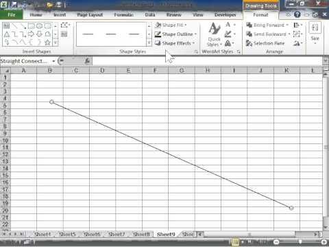 Excel 2010 Make a Dashed Line