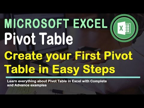 Create First Pivot Table | Excel 2016 Tips