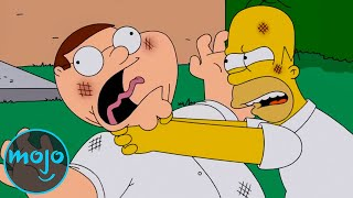 Top 10 Times The Simpsons Made Fun of Family Guy