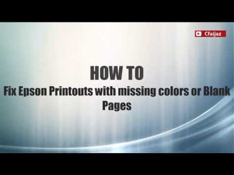 How To Fix a Printer That Prints Blank Pages- Epson L800 Series