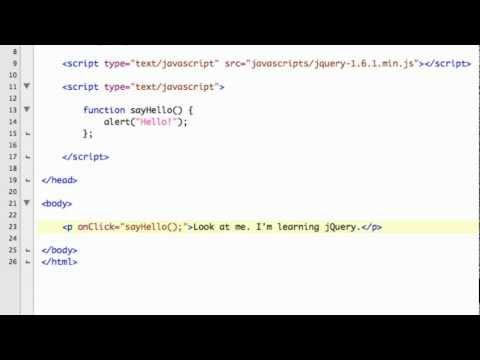 Internal, External, and Inline Scripting - jQuery Tutorials for Beginners