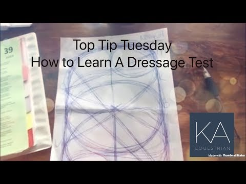 How To Learn A Dressage Test