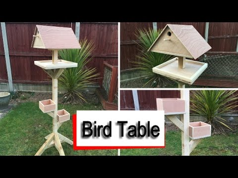 Bird Table - Free Plans and Build Video - 2x4 Timber