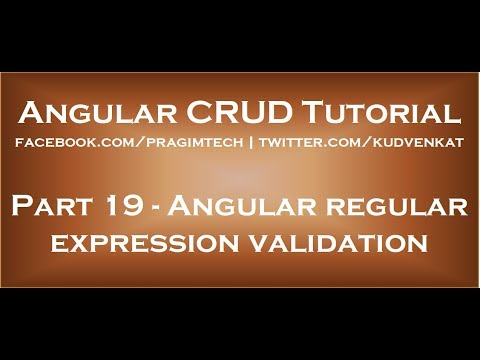 Angular regular expression validation