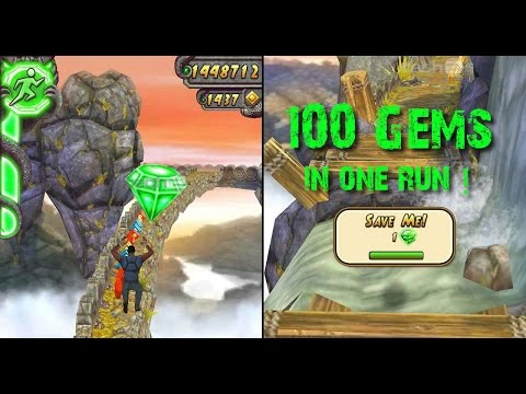 How to get 100 GEMS in one Run in Temple Run 2