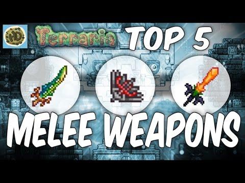 Terraria Top 5 Melee Weapons | Best Weapons 1.2