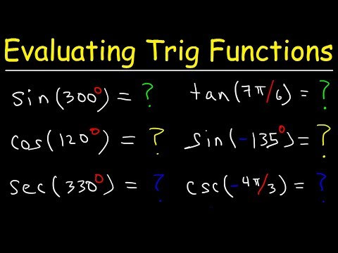 How To Use Reference Angles to Evaluate Trigonometric Functions