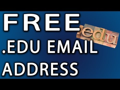 How To Get A Free .Edu Account: Email