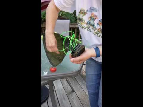 Replacing string in Ryobi 40volt cordless weedwhacker