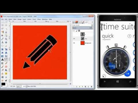 (Sped Up) GIMP: Pencil (Edit) Icon in 8 Minutes | PNG | SVG